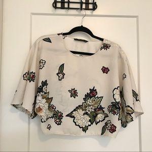 Zara floral kimono top
